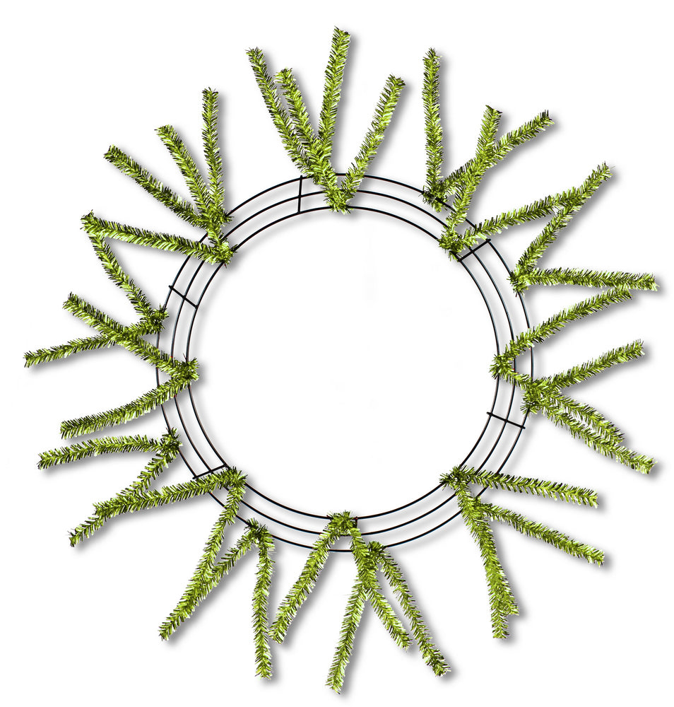 "15-24"" Pencil Work Wreath Form Lime Green"