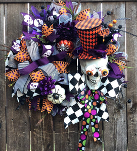 Fancy Skeleton Wreath