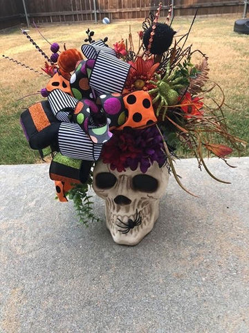 Skeleton Head Centerpiece