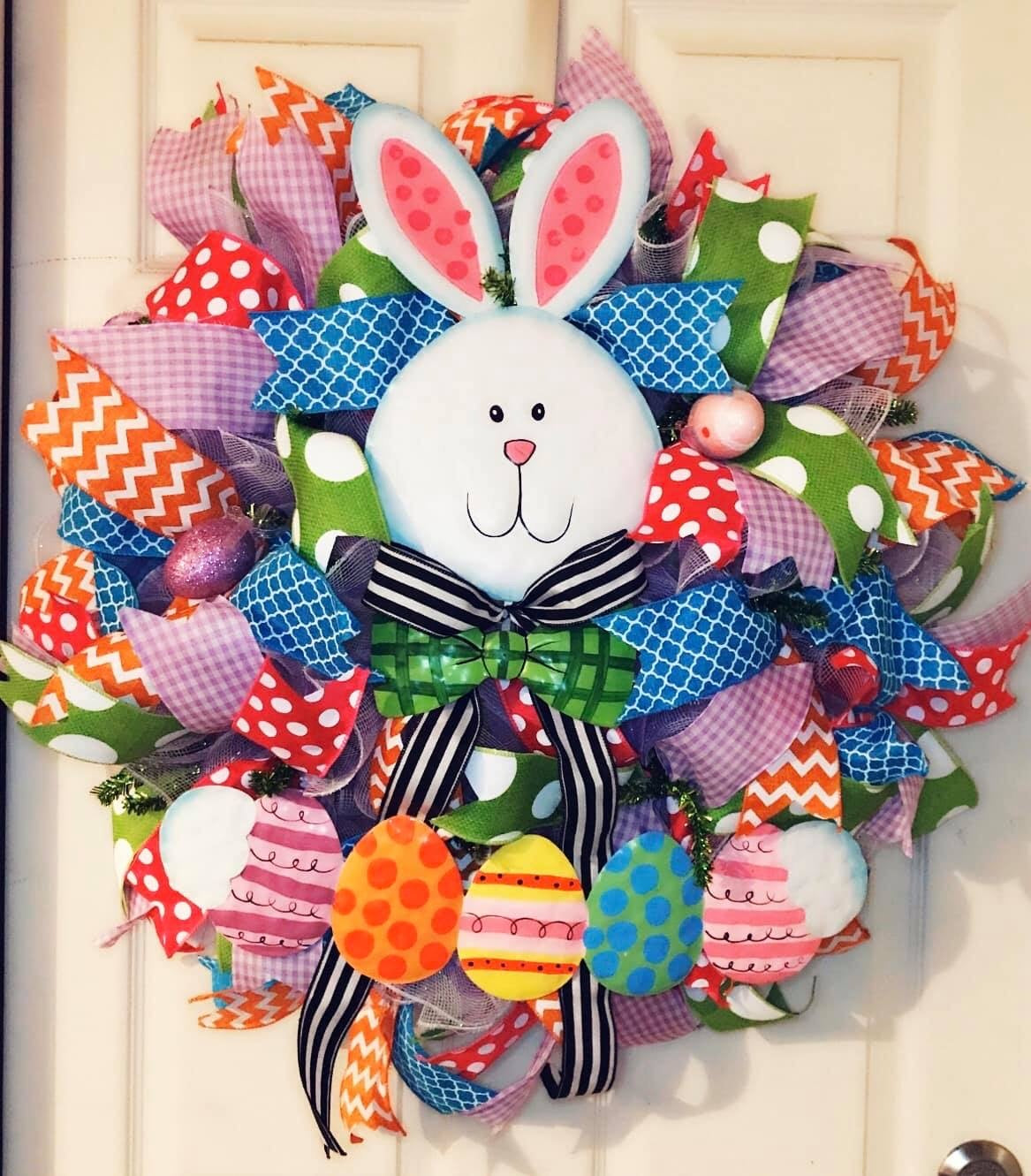 Bunny with Eggs Wreath