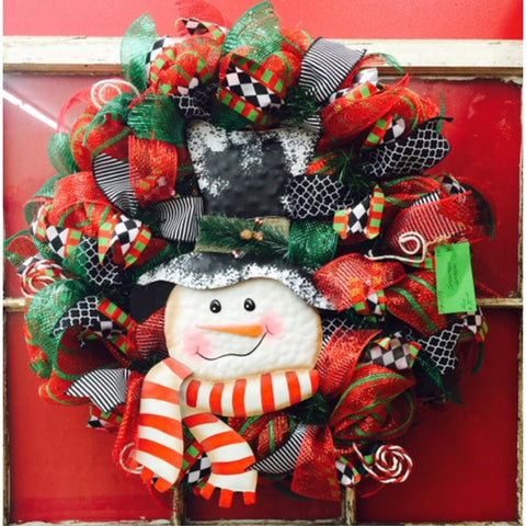 Snowman Wreath-Christmas Wreath-Destined with Creativity - Destined with Creativity