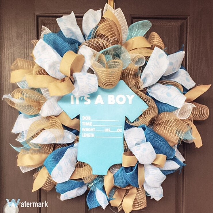 It's a Boy Wreath - Destined with Creativity