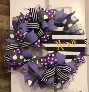 Purple Home Wreath