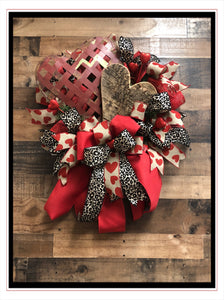 Leopard Love Wreath
