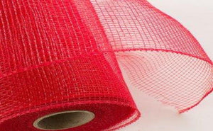 "21"" Poly Deco Value Mesh-Red"