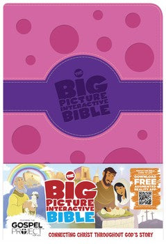 HCSB The Big Picture Interactive Bible For Kids - Pink and Purple Leathertouch