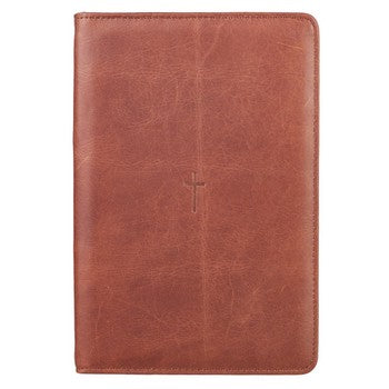 Bible Study Kit - Brown Leather Cross