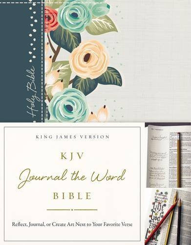 KJV Journal the Word Bible - Green Floral