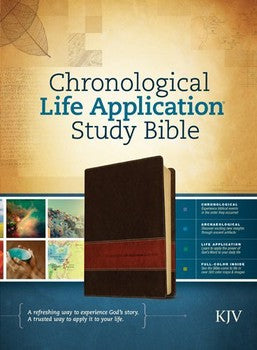 KJV Chronological Life Application Study Bible - Brown/Tan