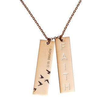 Necklace - Double Bar Faith