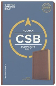 CSB Deluxe Gift Bible - Brown LeatherTouch