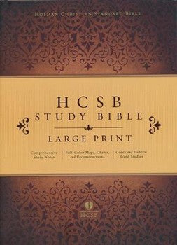 HCSB Large Print Study Bible - Hardcover