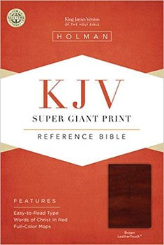 KJV Super Giant Print Reference Bible - Brown LeatherTouch