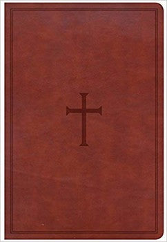 CSB Giant Print Reference Bible - Brown LeatherTouch