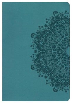 HCSB Large Print Ultrathin Reference Bible - Teal Indexed