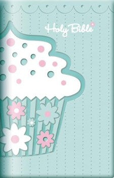 ICB Compact Bible - LeatherSoft Teal Cupcake