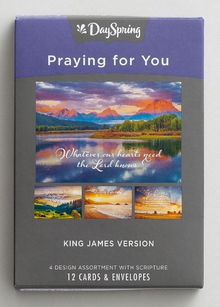 Boxed Cards - Praying For You KJV