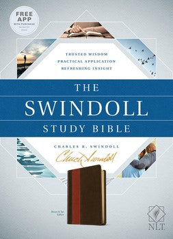 NLT The Swindoll Study Bible - TuTone Brown/Tan