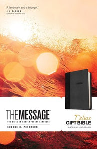 The Message Deluxe Gift Bible - Black