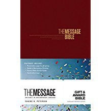 The Message Gift and Award Bible - Burgundy