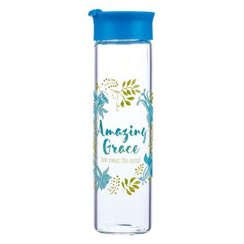 Glass Water Bottle - Amazing Grace