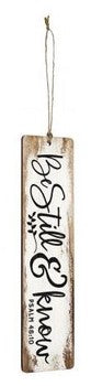 Wood Bookmark - Be Still