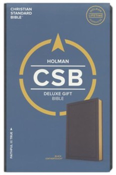 CSB Deluxe Gift Bible - Black Leathertouch