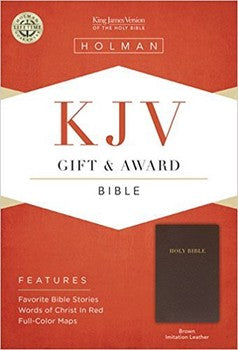 KJV Gift & Award Bible - Brown