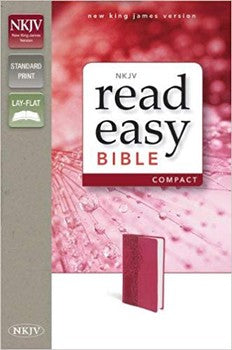 NKJV ReadEasy Compact Bible - Pink