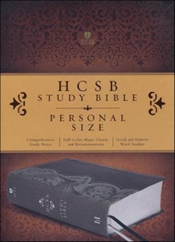 HCSB Personal Size Study Bible - Smoke/Slate LeatherTouch Indexed