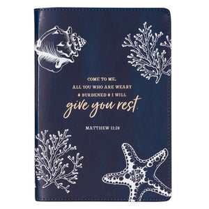 Journal - Give You Rest Navy LuxLeather