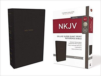 NKJV Super Giant Print Deluxe Reference Bible - Black