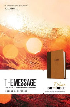 The Message Deluxe Gift Bible - Brown