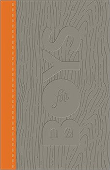 CSB Study Bible for Boys - Wood Orange/Charcoal Leathertouch