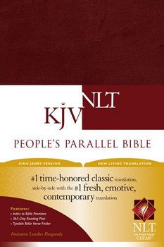KJV/NLT People's Parallel Bible - Burgundy