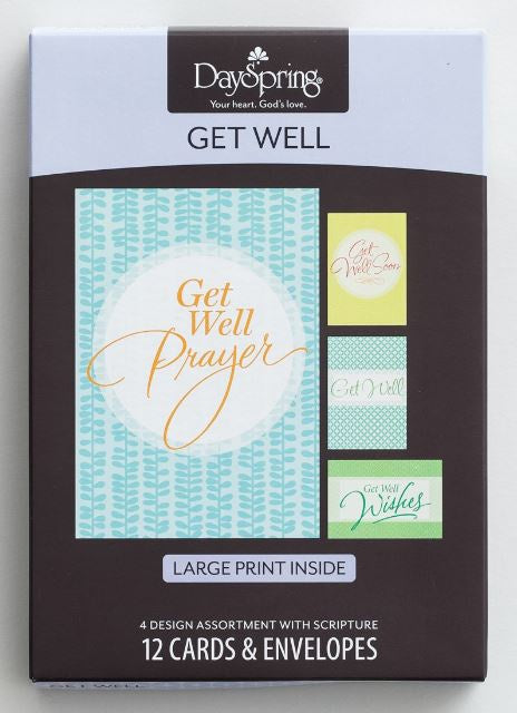 Boxed Cards - Get Well Large Print