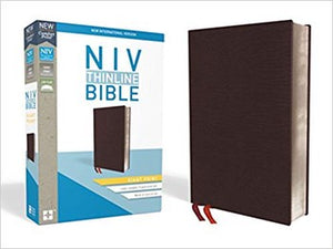 NIV Giant Comfort Print Thinline Bible - Burgundy Bonded Leather