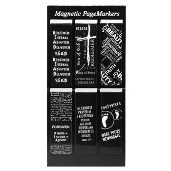 Magnetic Pagemarker Set - Black and White