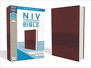 NIV Comfort Print Value Thinline Bible - Burgundy Leathersoft