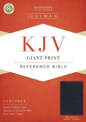 KJV Giant Print Reference Bible - Black (Indexed)