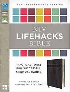 NIV Lifehacks Bible - LeatherSoft Gray