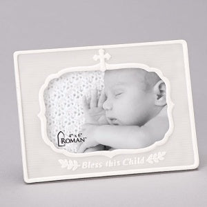 Photo Frame - Bless This Child Cross