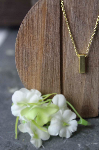 Vertical Bar Necklace (Gold)