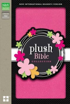 NIrV Thinline Plush Bible - Pink Sparkle