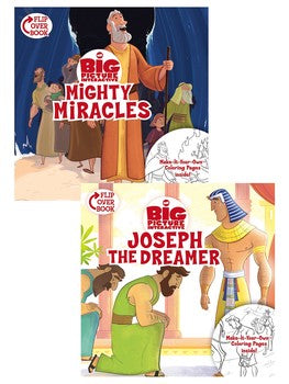 Little Bible Heroes: Mighty Miracles/Joseph the Dreamer Flip-Over Book