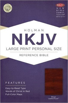 NKJV Large Print Personal Size Reference Bible - Brown