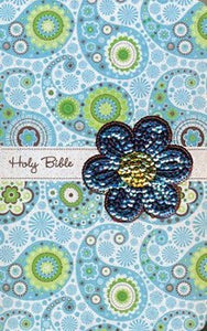 NIV Sequin Bible - Blue Leathersoft