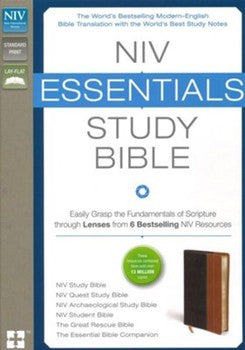 NIV Essentials Study Bible - Chocolate/Tan
