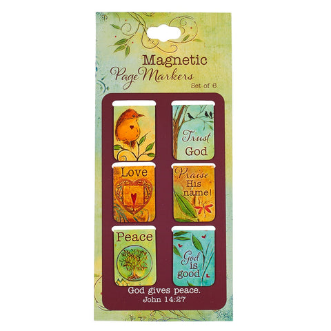 Magnetic Pagemarker Set - Peaceful Thoughts