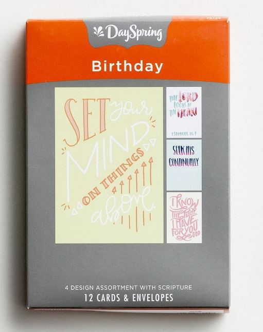 Boxed Cards - Birthday Bible Letters